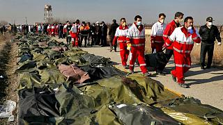 اجساد قربانیان هواپیمای سرنگونشده اوکراینی