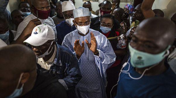 """""""Au vu des résultats sortis des urnes, je sors victorieux de cette élection dès le premier tour"""", a déclaré devant la presse M. Diallo"""