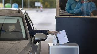 The second round of voting in a national election began on Monday.