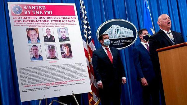 نشست خبری مقامات وزارت دادگستری آمریکا