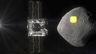 Raumsonde OSIRIS-REx untersucht Asteroiden Bennu (Model), 19.3.2019
