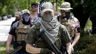 Manifestants pro-armes à Raleigh en Caroline du Nord, le 1er mai 2020.