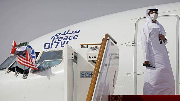 نخستین هواپیمای امارات عربی متحده که در اسرائیل به زمین نشست