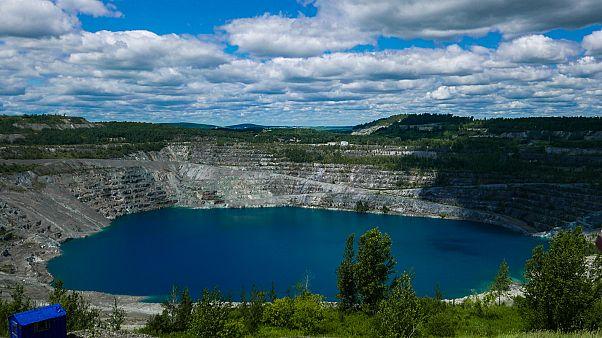 A bánya Azbestosban.