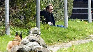Peter Madsen encurralado pela polícia