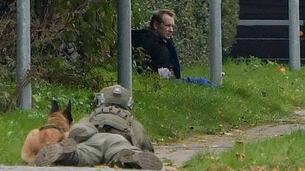 A police marksman watched convicted killer Peter Madsen after his prison break attempt