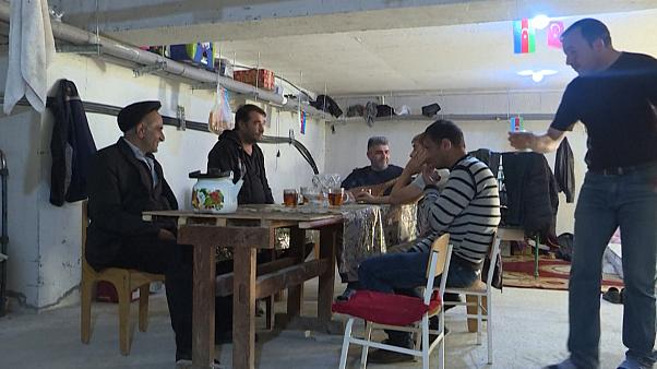 ویدئو؛ موسیقی سنتی آذربایجان در پناهگاه ترتر در بحبوحه جنگ قرهباغ