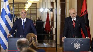 Greek Foreign Minister Nikos Dendias announced the news alongside the Albanian Prime Minister Edi Rama in Tirana.