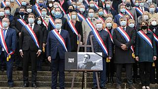 French MPs hold a minute's silence for murdered teacher Samuel Paty