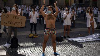 اعتراض پزشکان در بارسلون