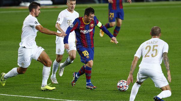 Messi adelantó al FC Barcelona en su partido ante el Ferencváros (5-1)