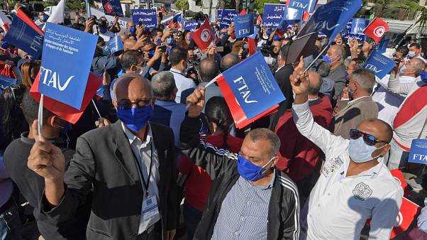 Manifestation de personnel d'agences de voyages, Tunis, le 20/10/2020