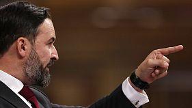 Santiago Abascal defiende la moción