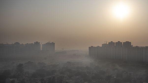 الضبان يلف العاصمة الهندية نيودلهي إحدى أكثر المدن تلوثا في العالم. 2020/10/16