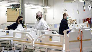 Zusätzliche Betten für Covid-19-Patienten in Slany