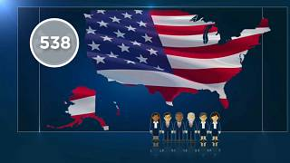 The US electoral college has 538 electors who vote to determine who will be president.