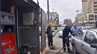 محطة تزويد بالبنزين في حمص- سوريا