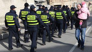 Грузинская полиция на улицах Тбилиси