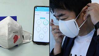 أقنعة ذكية مزودة بتقنيات مختلفة كتنقية الهواء أو التواصل مع تطبيقات الهاتف المحمول