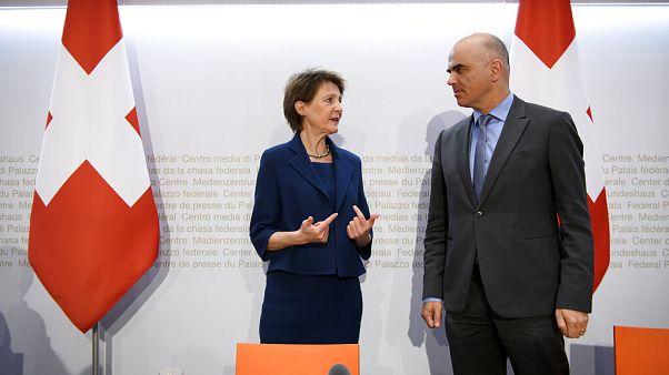 Simonetta Sommaruga und Alain Berset