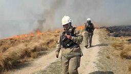 Los bomberos ganan la batalla al fuego en la zona central de Argentina