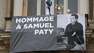 Fransa'da öldürülen öğretmen Samuel Pathy