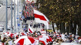 Tüntetés Belaruszban