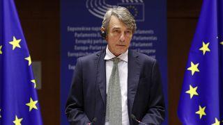 Глава Европарламента объявляет лауреата премии Сахарова-2020