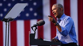 Esk Başkan Obamai Biden'ın seçim kampanyasında konuşma yaptı
