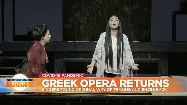 Opera performance at Greece's National Theatre