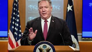 US Secretary of State Mike Pompeo in Washington on Oct. 21, 2020.