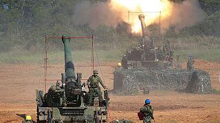 نظامیان تایوان جین انجام مانوور نظامی