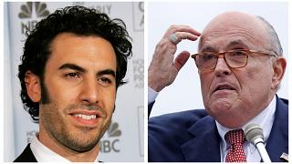 Sacha Baron Cohen ve Rudy Giuliani