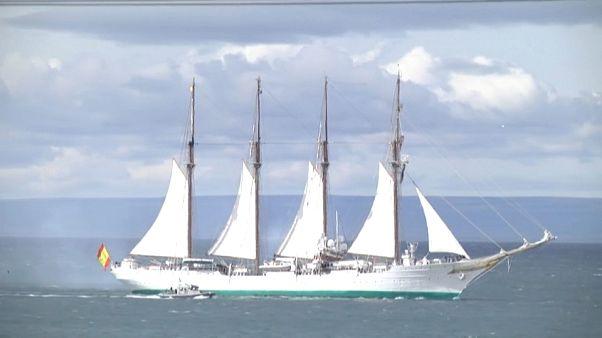 El buque escuela Juan Sebastián Elcano de la Armada española