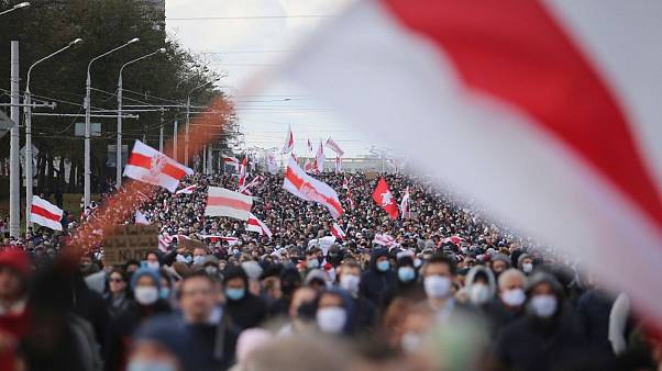 تظاهرات مخالفان لوکاشنکو در بلاروس