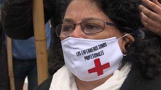 Manifestation d'infirmières en Argentine
