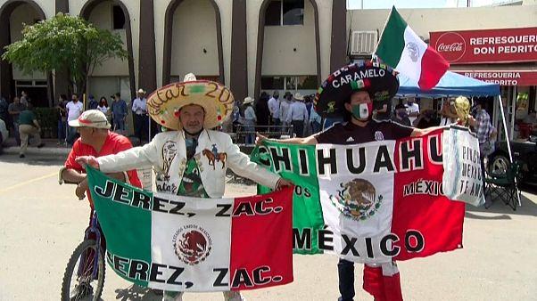 Manifestantes de Chihuahua protestan contra la entrega de agua a EE.UU.