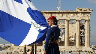 Έπαρση σημαίας στην Ακρόπολη (αρχείο)