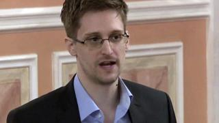 In this Oct. 11, 2013 file image made from video and released by WikiLeaks, former National Security Agency systems analyst Edward Snowden speaks in Moscow.