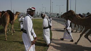 Верблюжьи бега в Дохе, апрель 2019 г.