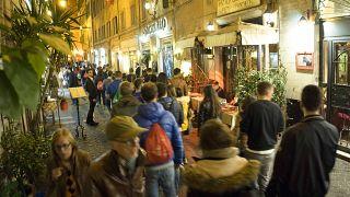أحد الشوارع في العاصمة الإيطالية روما