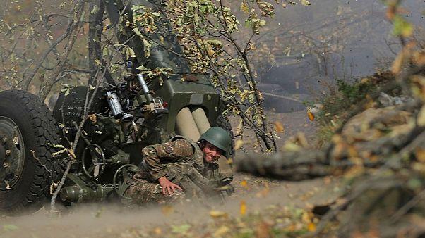 سرباز ارمنی در نبرد قره باغ