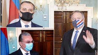 ABD Dışişleri Bakanı Pompeo Ermeni ve Azeri mevkidaşları ile görüştü