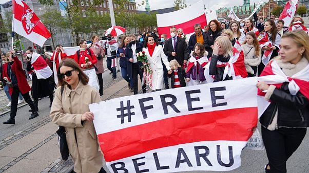 """Тихановская на марше в Копенгагене: """"Нельзя изменить волю народа"""""""