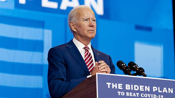 Democratic presidential candidate and former Vice President Joe Biden speaks about coronavirus in Wilmington, Delaware on Friday, Oct. 23, 2020.