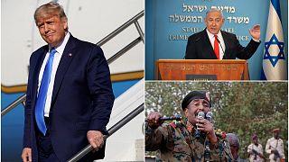 Donald Trump, Benjamin Netanyahu ve Abdülfettah el-Burhan