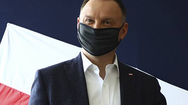 File photo: Poland's President Andrzej Duda casts his vote during the presidential election in Krakow, Poland. June 28, 2020.