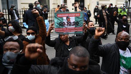 Les nigérians de Londres solidaires des manifestations #ENDSARS