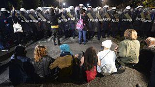 Las protestas se suceden desde hace tres días en Polonia