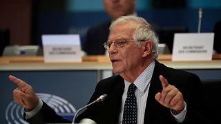 منسق السياسة الخارجية الأوروبية  جوزيب بوريل يجيب على الأسئلة خلال جلسة الاستماع في البرلمان الأوروبي في بروكسل، الاثنين، 7 أكتوبر 2019